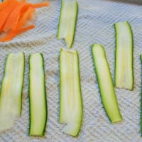 Wraps di zucchine Raw step 1