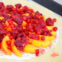 Galette with Red Peaches and Fruits step 5