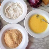 chuletas de berenjena con hierbas y queso parmesano paso 2