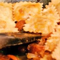 delattosata mozzarella y tomate con albahaca Ravioli puré paso 10