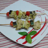 Chicken Skewers And Zucchini In Pesto ...