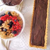tarta de coco con crema de chocolate y fruta fresca paso 4