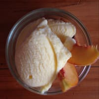 Fruit ice cream without milk or sugar