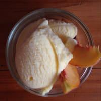 Helado de fruta sin leche ni azúcar