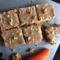 cuadraditos carrot cake Raw