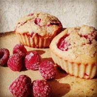 Muffins saludables de frambuesas