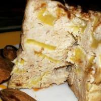 pastel de taza en forma con las manzanas paso 7