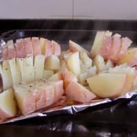 Papas al horno con hummus de acelga paso 4