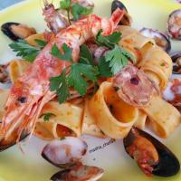Calamares con salsa de marisco