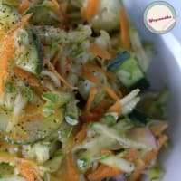 Salad of raw zucchini