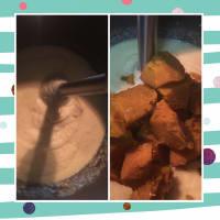 Crema de garbanzos y calabaza con crujiente de bacon paso 4