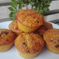 Muffins de zapallo con chips de chocolate