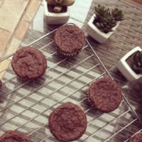 Muffins tipo brownie de porotos negros