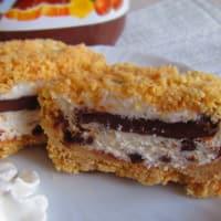 Mini fría Crumble En mascarpone y Nutella sin cocinar