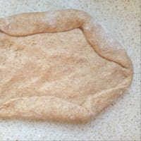 Pan integral con leche de arroz con levadura natural paso 5