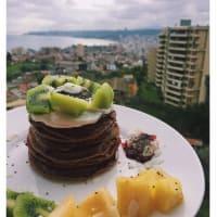 Pancakes de Avena, Cacao y Frutas. paso 1