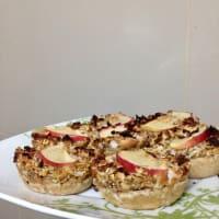 Mini torte di mele, cannella e Avena