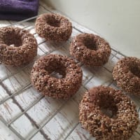 Donuts of amaranth and cacao step 1