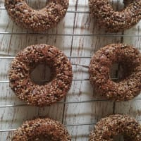 Donuts of amaranth and cacao step 2