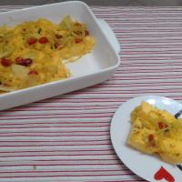 Sin Gluten Focaccia Di polenta con salsa de cebollas ... !!!