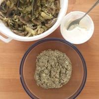 Hongos raviolis al vapor rellenos, la col y las Ricotta paso 12