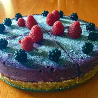 pastel de moras alimentos crudos