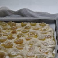 Focaccia sweet to the grapes step 5