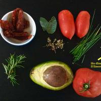 salsa de espaguetis de calabacín en guacacuore paso 1