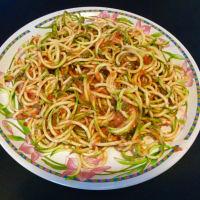 salsa de espaguetis de calabacín en guacacuore paso 4