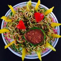 salsa de espaguetis de calabacín en guacacuore paso 5