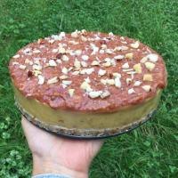 pastel de alimentos crudos con mango y nueces de Brasil!