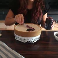 Torta ricotta cioccolato e more step 8