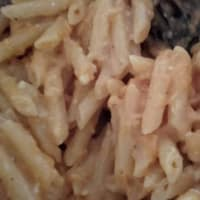 Pasta au gratin al horno con salsa de calabaza y paso 8