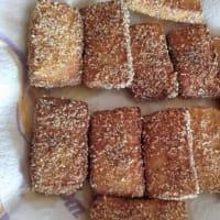 Palillos fritos de tofu y sartascinello paso 8
