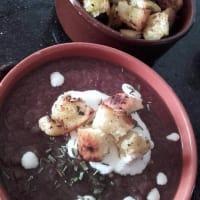 Aterciopelados púrpura repollo, zanahorias y migas de pan de jengibre con sabor paso 8