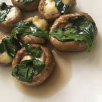 Mushroom Stuffed with Cheese and Spinach