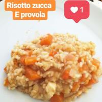 Pumpkin risotto and provola