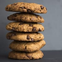 las galletas con trocitos de chocolate veganos