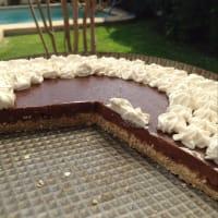 Pie de Chocoplatano y Crema de Coco paso 8