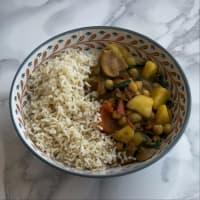 Coconut curry vegano