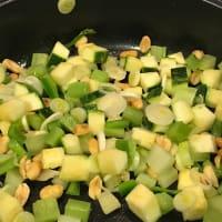 Salteado de camarones con verduras paso 1