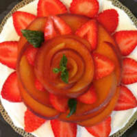 cheesecake pesche e fragole