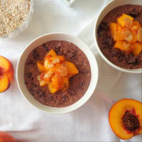 Cacao porridge with caramelized peaches step 3