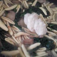Cicatelli con espinacas, setas y bechamel paso 5