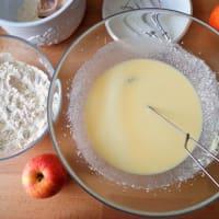 las manzanas del mollete con queso cottage y pasas de uva paso 1