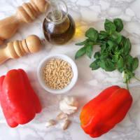 Pesto di peperoni step 1