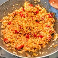 Bulgur con puerros, tomates, brotes de soja y alcaparras paso 5