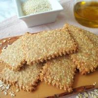 Cracker integrali ai fiocchi di avena e sesamo step 3