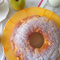El buñuelo con manzanas y yogur, sin mantequilla