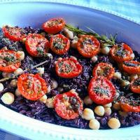 Venus Rice con garbanzos Integral, aceitunas negras y tomate confitado